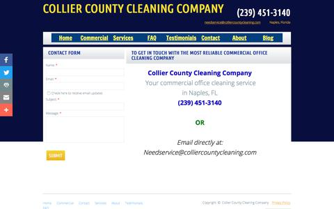 Screenshot of Privacy Page Contact Page colliercountycleaning.com - Collier County Cleaning Company in Naples, Fl : Contact - captured Aug. 13, 2017
