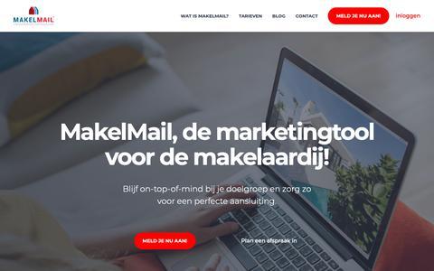 Screenshot of Home Page makelmail.nl - Zo werkt MakelMail - MakelMail - captured Nov. 6, 2018