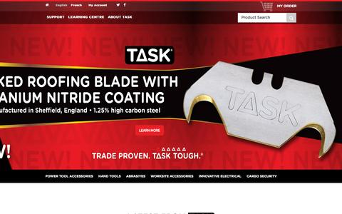 Screenshot of Home Page task-tools.com - Hand Tools, Power Tool Accessories, Saws & More in Canada - captured Jan. 13, 2016