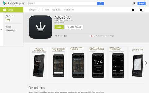 Screenshot of Android App Page google.com - Aston Club - Android Apps on Google Play - captured Oct. 22, 2014