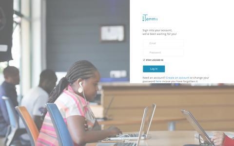 Screenshot of Login Page termii.com - Log In - Termii - captured Nov. 1, 2017
