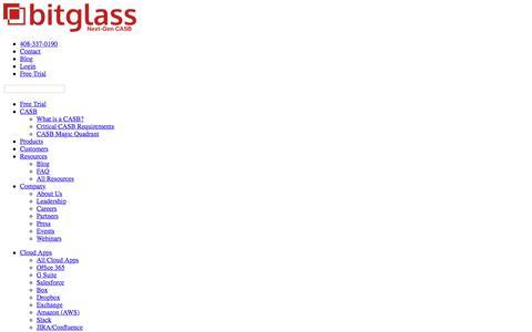Screenshot of Press Page bitglass.com - Press   Bitglass - captured March 7, 2018