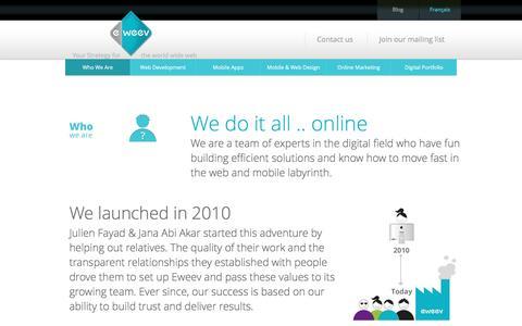 Screenshot of Team Page eweev.com - Who We Are | Web Design & Development Company Lebanon, KSA, Qatar, Dubai, Kuwait, Bahrain | Eweev - captured Nov. 13, 2016