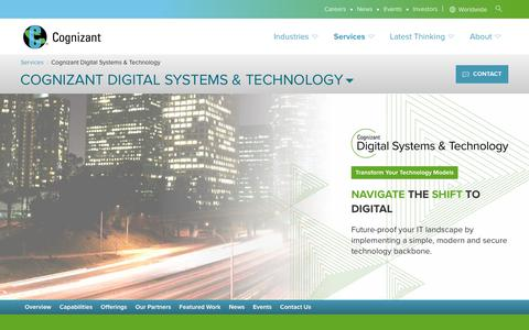 Digital Systems & Technology—Modernize IT Infrastructure | Cognizant