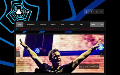 Screenshot of Home Page Press Page wearebpm.com - We are BPM | Music, Interviews, Videos and Exclusives - captured Oct. 1, 2014