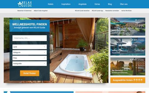 Screenshot of Home Page relax-guide.com - Wellnesshotels im Test   RELAX Guide Hotelbewertungen - captured Sept. 23, 2018