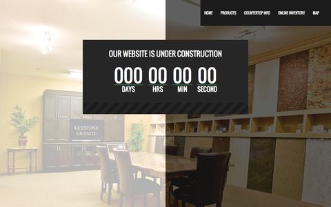 Screenshot of Blog keystonegranite.com - Our Website is Under Construction «  Keystone Granite - captured Sept. 30, 2014