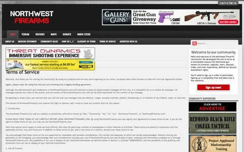 Screenshot of Terms Page northwestfirearms.com - Terms of Service   Northwest Firearms - captured Oct. 26, 2014