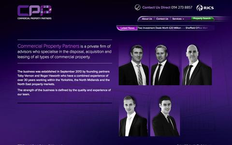 Screenshot of About Page commercialpropertypartners.co.uk - About us :: Commercial Property Partners, CPP Sheffield - captured Sept. 30, 2014