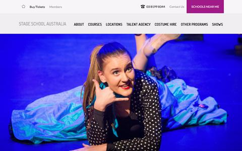 Screenshot of Contact Page Signup Page stageschool.com.au - Contact us | Stage School Australia - captured Feb. 23, 2018