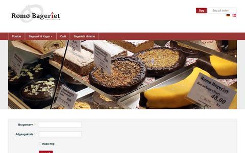 Screenshot of Login Page romobageri.dk - Login - captured Jan. 4, 2017