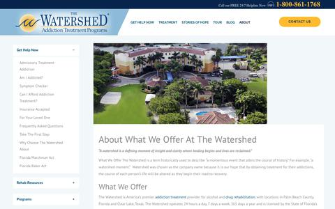What We Offer The Watershed | About us And What We have to offer you