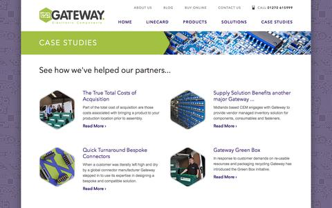 Screenshot of Case Studies Page gatewaycando.com - Gateway  · Case Studies - captured July 17, 2017