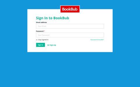 Screenshot of Login Page bookbub.com - BookBub - Sign in - captured June 29, 2017