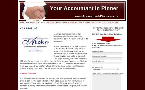 Screenshot of Blog accountant-pinner.co.uk - Accountant-Pinner.co.uk - captured Oct. 4, 2014