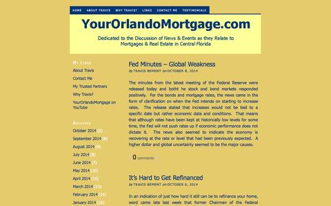 Screenshot of Home Page yourorlandomortgage.com - YourOrlandoMortgage.com- Home Financing That Meet's YOUR Needs! - captured Oct. 9, 2014