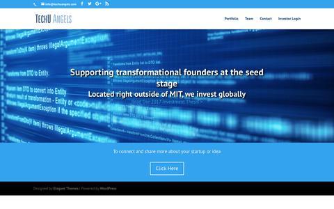 Screenshot of Home Page techuangels.com - TechU Angels LLC - captured Nov. 15, 2017