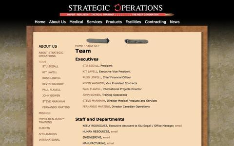 Screenshot of Team Page strategic-operations.com - Strategic Operations Team | Strategic Operations - captured Oct. 7, 2014