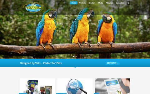 Screenshot of Home Page vetafarm.com.au - Vetafarm - Designed by Vets...Perfect for Pets - captured Jan. 10, 2016