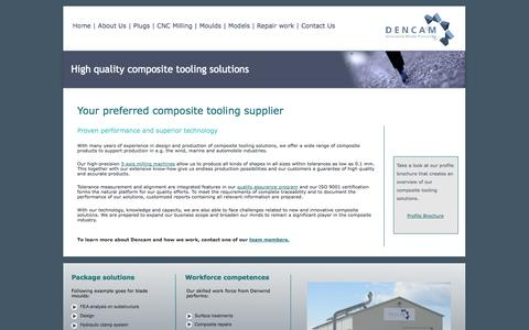 Screenshot of About Page dencam.com - Composite tooling supplier - captured Oct. 5, 2014
