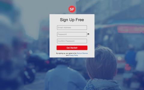 Screenshot of Signup Page salefreaks.com captured March 19, 2017