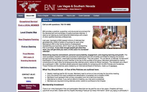 Screenshot of About Page bnilasvegas.com - Las Vegas & Southern Nevada - About - captured Feb. 7, 2016