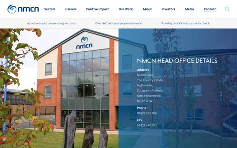 Screenshot of Contact Page nmcn.com - Get In Touch With nmcn | Contact Us - nmcn - captured Dec. 10, 2018