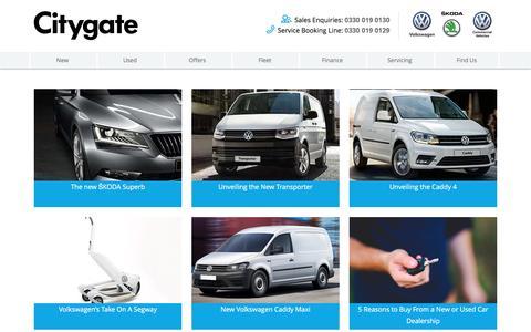 Screenshot of Press Page citygate.co.uk - VW and ŠKODA News | Citygate - captured Nov. 6, 2016