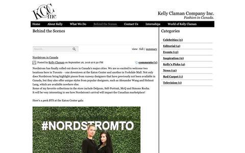 Screenshot of Blog kellyclaman.com - Kelly's World - captured Oct. 15, 2018