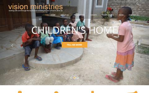Screenshot of Home Page visionministries.co.uk - Vision Ministries - captured June 13, 2017