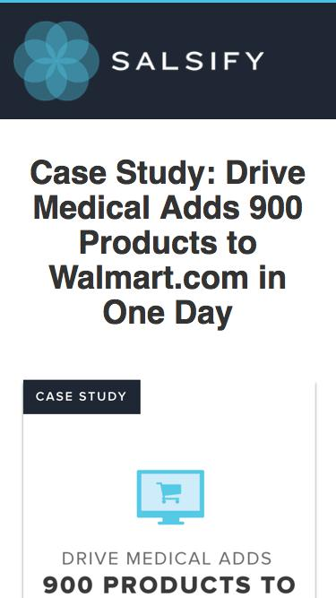 Case Study - Drive Medical 900 Products to Walmart