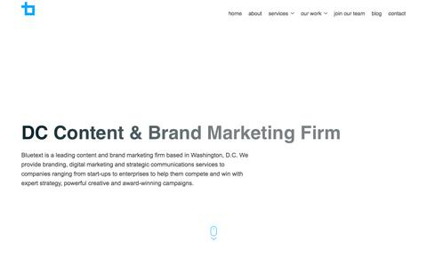 DC Content & Brand Marketing Firm | Bluetext