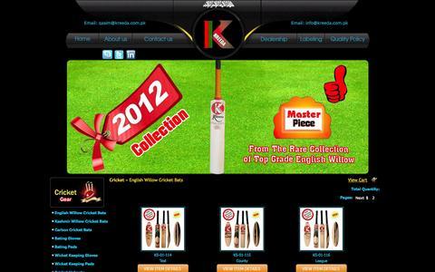 Screenshot of Products Page kreeda.com.pk - :::KREEDA SPORTS::: - captured Oct. 6, 2014