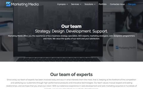 Screenshot of Team Page marketingmedia.ca - Our team - Marketing Media - captured July 28, 2018