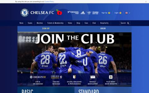 Screenshot of Signup Page chelseafc.com - Join the Club | Security | Official Site | Chelsea Football Club - captured Nov. 3, 2016