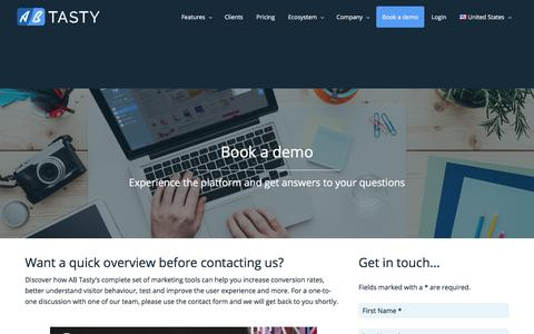 Book a demo of our suite for conversion rate optimization