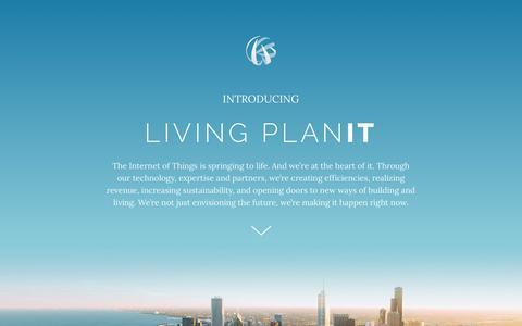 Screenshot of Home Page living-planit.com - Living PlanIT - captured Oct. 9, 2015