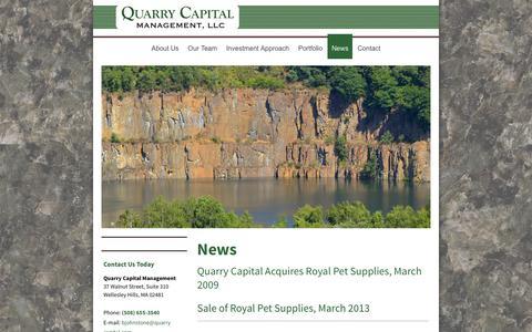 Screenshot of Press Page quarrycapital.com - Quarry Capital - News - captured Feb. 1, 2016