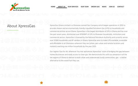 Screenshot of About Page xpressgas.com - About Us | XpressGas - captured Oct. 19, 2018
