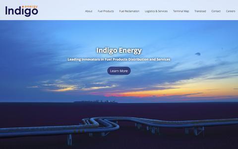 Screenshot of Home Page indigoenergy.com - Home - Indigo Energy - captured Jan. 8, 2016