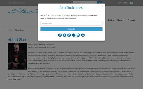 Screenshot of About Page steverude.com - About Steve Rude – Steve Rude Art - captured Feb. 16, 2016