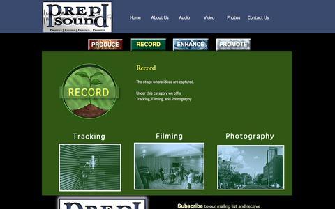 Screenshot of Home Page prepsound.com - PREP Sound - www.prepsound.com - captured May 21, 2017
