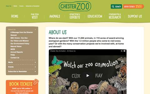 Screenshot of About Page chesterzoo.org - About Us | Chester Zoo UK - captured Sept. 19, 2014