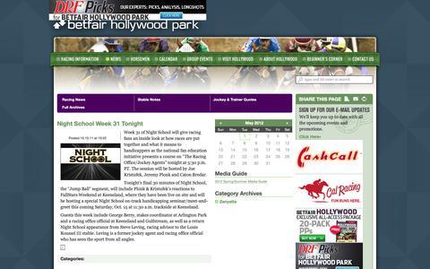 Screenshot of Press Page betfairhollywoodpark.com - Hollywood Park • News - captured Nov. 11, 2018