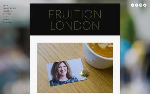 Screenshot of Team Page fruitionlondon.com - TEAM — Fruition London - captured Feb. 10, 2016