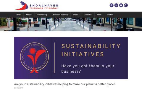 Screenshot of Press Page shoalhavenbusinesschamber.com.au - News | Shoalhaven Business Chamber - captured June 19, 2017