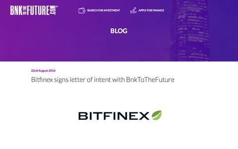 Screenshot of Blog bnktothefuture.com - BnkToTheFuture Blog - captured Nov. 22, 2016
