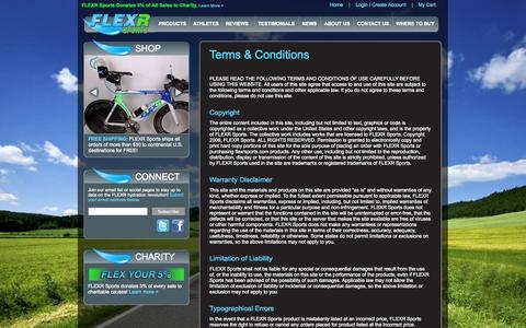 Screenshot of Terms Page flexrsports.com - Terms & Conditions   BPA Free Water Bottle with Disposable Liners for Ultimate Freshness   FLEXR Sports - captured Sept. 30, 2014