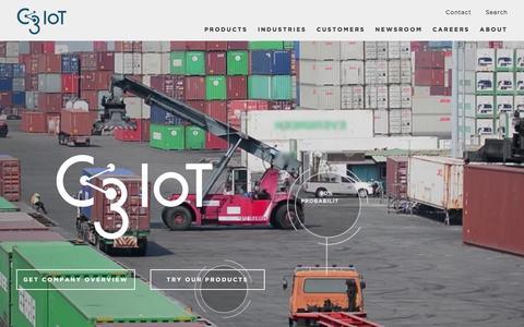 Screenshot of Home Page c3iot.com - C3 IoT - captured Feb. 24, 2016
