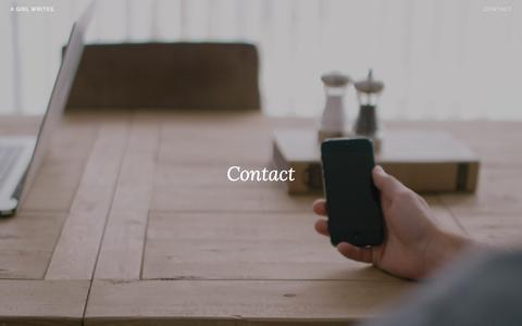 Screenshot of Contact Page wordpress.com - Contact – A girl writes. - captured March 10, 2017